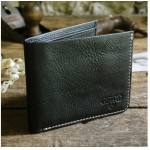 Wild & Wolf - Leather Bi Fold Wallet Black