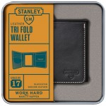 Wild & Wolf - Leather Tri Fold Wallet Black