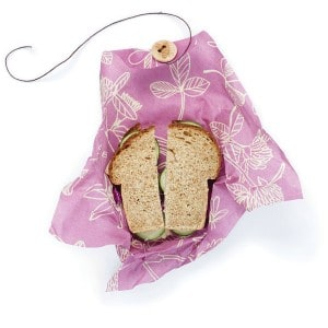 Image of   Bee's Wrap Sandwich Wrap - Clover Print Mimi's Purple