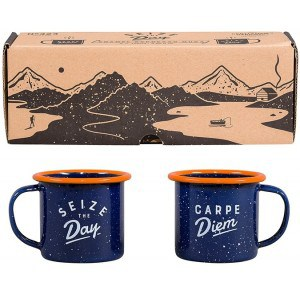 Image of   Enamel Espresso Set Blue