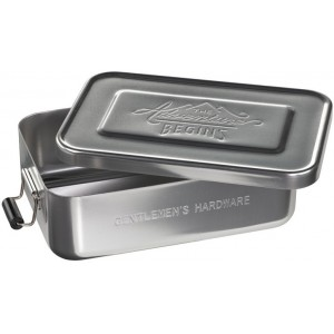 Image of   Metal Lunch Tin Silver
