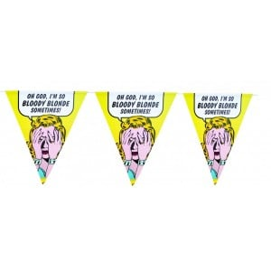 Image of   Flaggspel Party Bunting/blonde