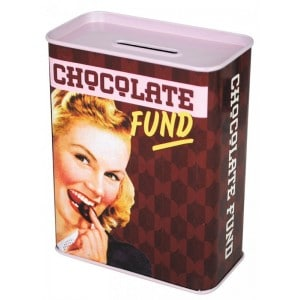Image of   Tin Money Box Chocolate