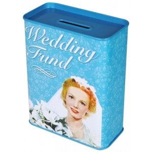 Image of   Tin Money Box Wedding