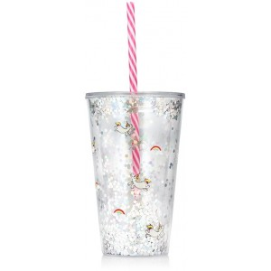 Image of   Drink Cup With Straw Unicorn