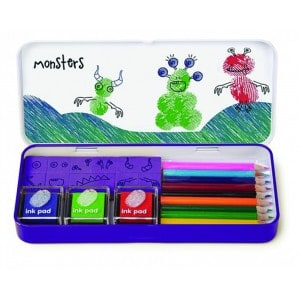 Image of   Finger Print Art Set Monsters