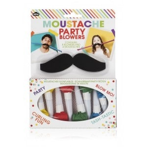 Image of   Moustache Party Blowers