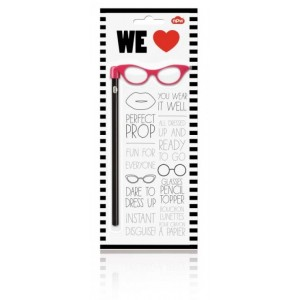 Image of   Pencil Topper Pink Glasses