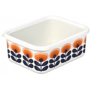 Image of   Enamel Storage Box Orange