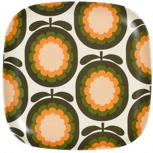 Image of   Plate Cantaloupe Melon Khaki