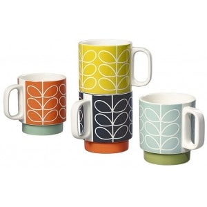 Orla Kiely - Stacking Mugs Set Of 4