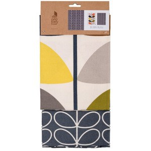 Image of   Tea Towel Set Of 2 Multi Stem