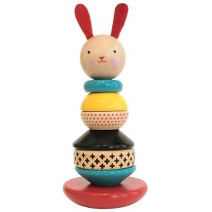 Image of   Wood Stacking Toy Rabbit