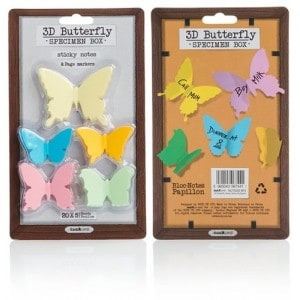Image of   3d Butterfly Sticky Notes Set