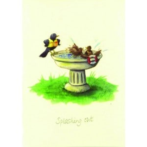Image of   Greeting Card Splashing Out