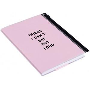 Zip Pouch Notebook - Pink